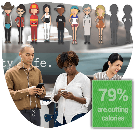 79% ARE CUTTING CALORIES